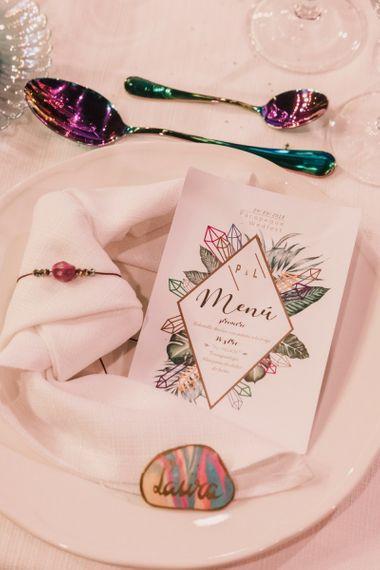 Menu designed by the bride