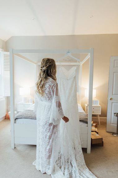 Bridal Robe   Made With Love Ella Dress   French Rustic at Northbrook Park in Surrey   Images by Charlotte Bryer-Ash