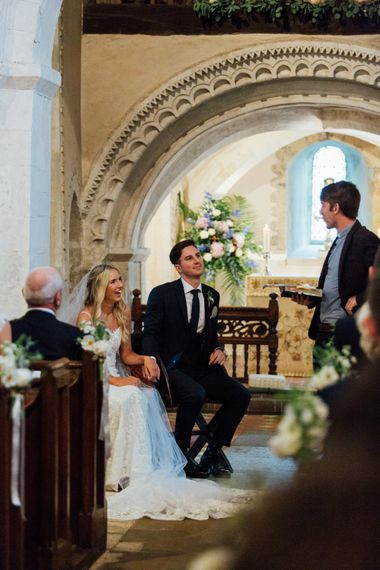 Church Wedding Flower Decor   French Rustic at Northbrook Park in Surrey   Images by Charlotte Bryer-Ash