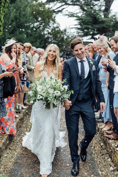 White Blooms and Green Foliage | Made With Love Ella Dress | French Rustic at Northbrook Park in Surrey | Images by Charlotte Bryer-Ash