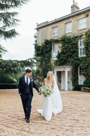 White Blooms and Green Foliage | Made With Love Dress | French Rustic at Northbrook Park in Surrey | Images by Charlotte Bryer-Ash
