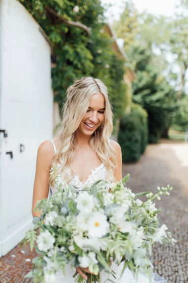 White Blooms and Green Foliage   Made With Love Dress   French Rustic at Northbrook Park in Surrey   Images by Charlotte Bryer-Ash