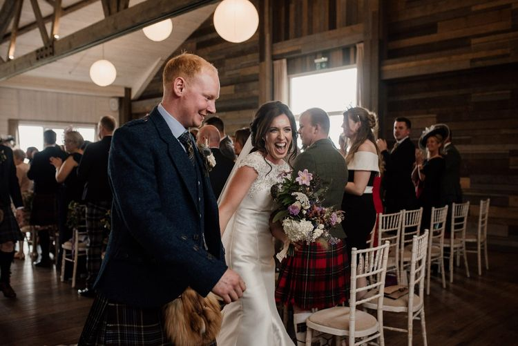 Wedding day moment captured by Aberdeen wedding photographer