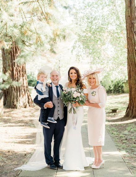 Bride portrait with her parents