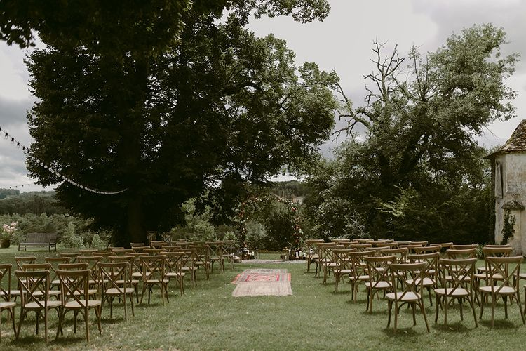 Aisle Style | Outdoor Boho Wedding at Chateau le Tour, France | Adam and Grace Photography | Head and Heart Films