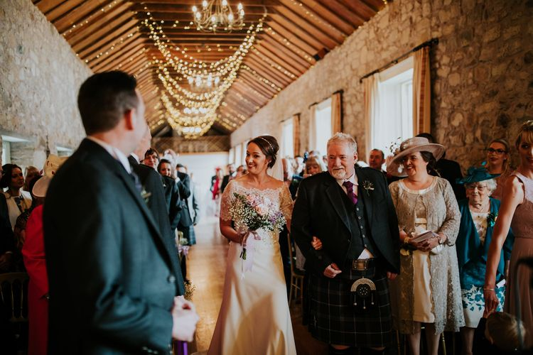 Elegant Scottish Wedding At Kirknewton Stables With Lilac Colour Palette Semi Naked Wedding Cake And Images From Ross Alexander Photography