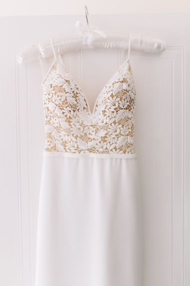 Mikaella Wedding Dress with Fitted Lace Bodice
