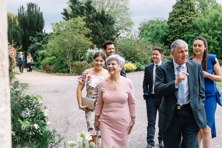 Wedding Guests Arriving at the Wedding Venue