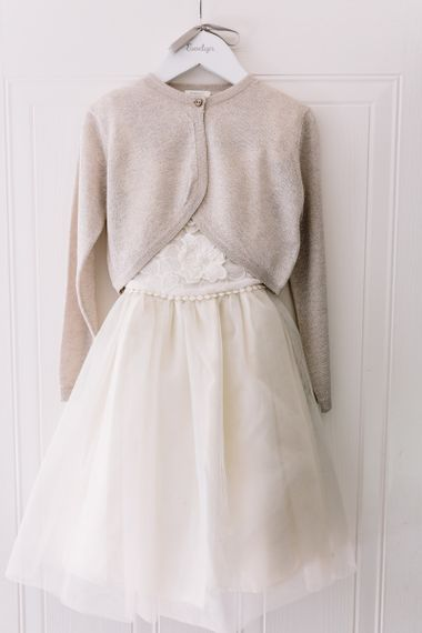 Hanging Flower Girl Dress and Cardigan
