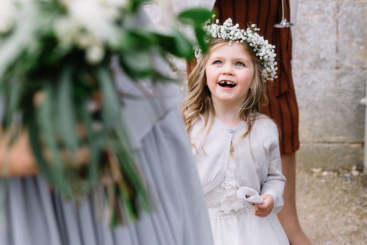 Flower Girl with Gypsophila Flower Crown