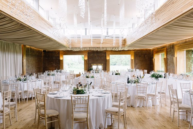 Elmore Court Wedding Reception with Round Tables