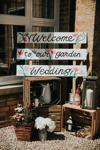 Personalised painted wooden wedding signs