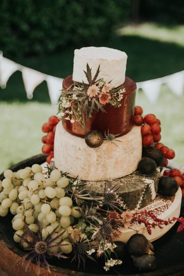 Cheese tower wedding cake