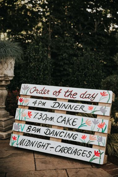 Painted wooden wedding signs
