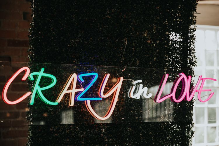 Crazy in love wedding sign