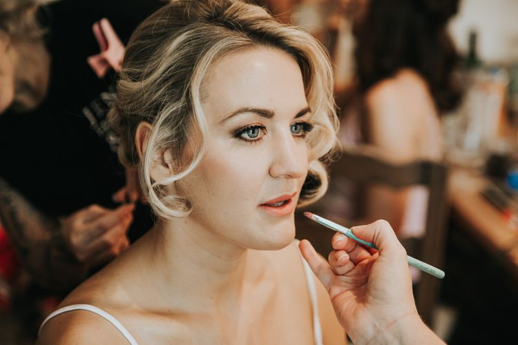 Bridal beauty for industrial wedding