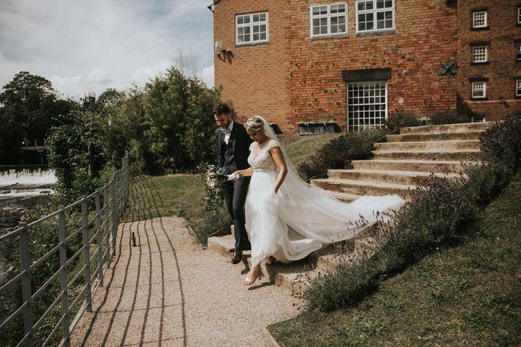 Bride in Stella York wedding dress