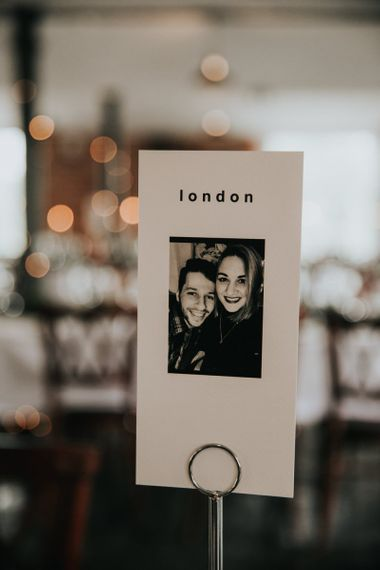 Photographic table name cards