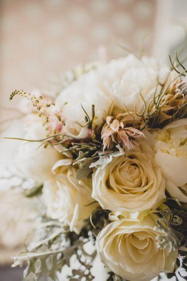White wedding flowers for Croatian elopement