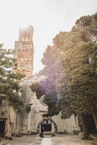 Croatia elopement at historic church