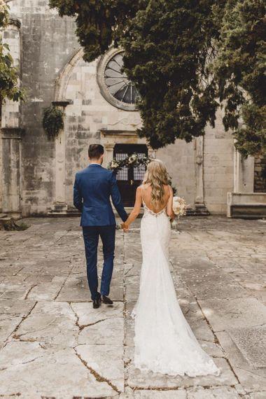 Low back Essense of Australia wedding dress