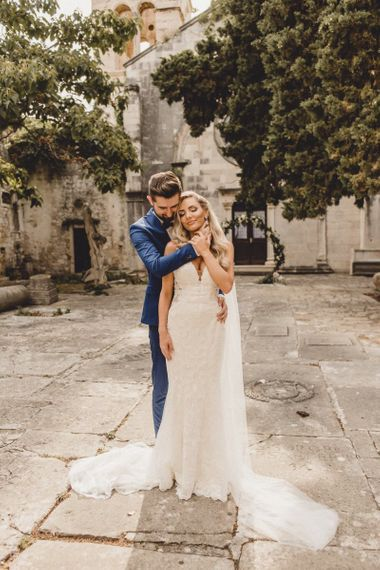 Bride and groom at elopement in Croatia