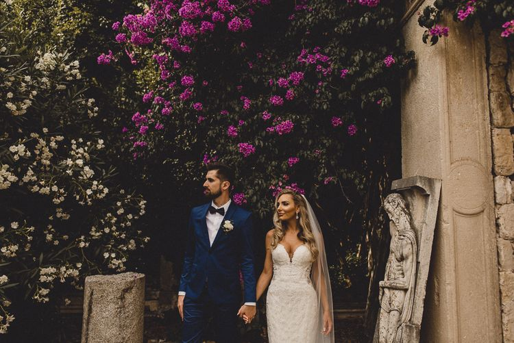 Destination elopement with bride and groom