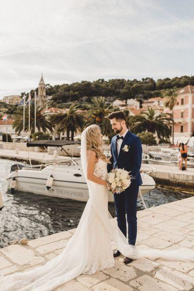 Bride and groom at destination elopement
