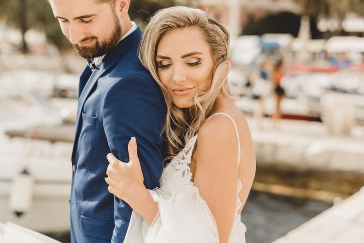 Intimate wedding for bride and groom