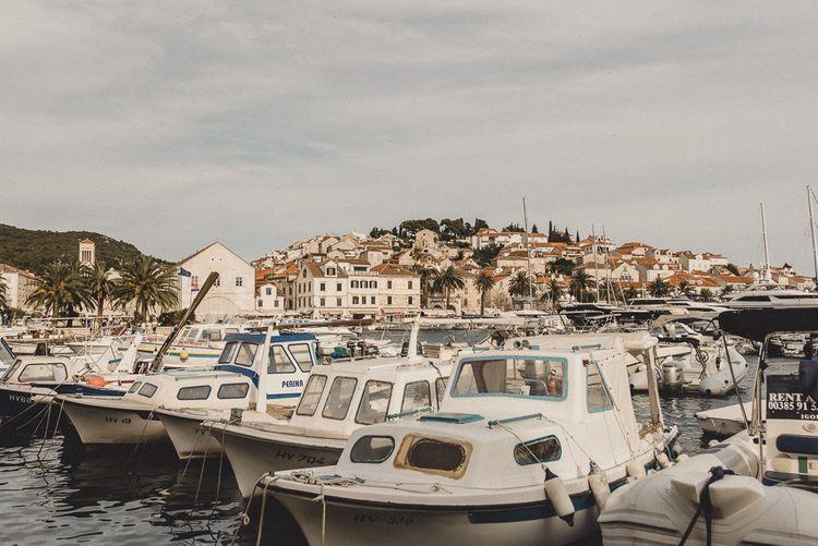 Harbour in Hvar for destination wedding
