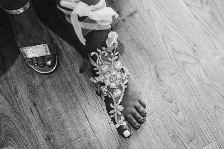 Bridal Footwear | Rustic, Boho, Outdoor Summer Garden Wedding at Herons Farm, Berkshire | Carla Blain Photography