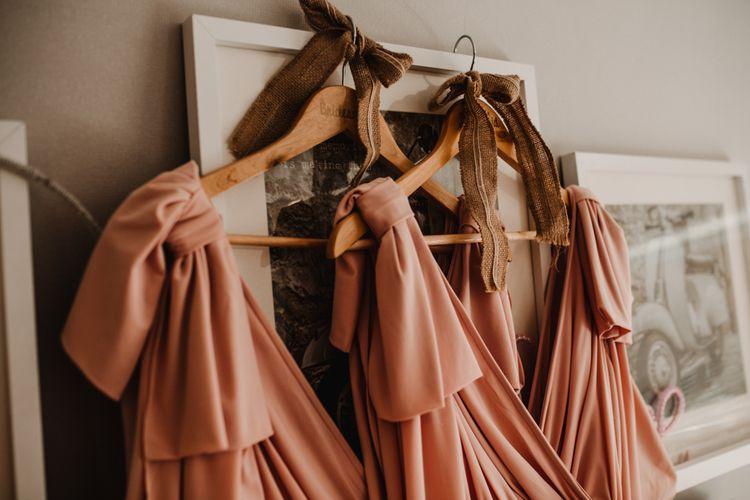 Blush Pink ASOS Bridesmaid Dresses | Rustic, Boho, Outdoor Summer Garden Wedding at Herons Farm, Berkshire | Carla Blain Photography