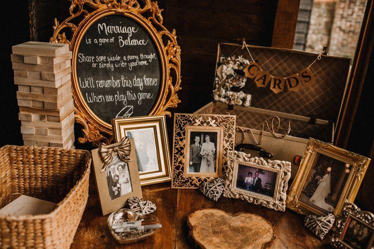 Family Portrait Photographs Wedding Decor | Rustic, Boho, Outdoor Summer Garden Wedding at Herons Farm, Berkshire | Carla Blain Photography