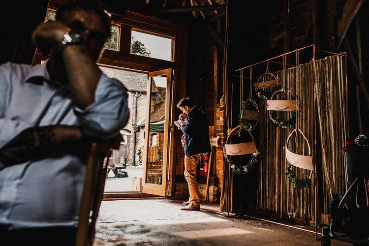 Rustic Barn Evening Reception | Rustic, Boho, Outdoor Summer Garden Wedding at Herons Farm, Berkshire | Carla Blain Photography