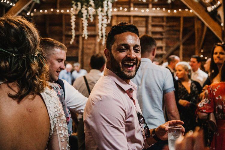 Wedding Guests | Rustic, Boho, Outdoor Summer Garden Wedding at Herons Farm, Berkshire | Carla Blain Photography