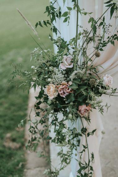 romantic wedding flower arrangement