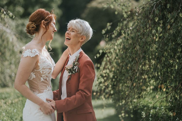 Two brides at romantic LGBTQ+ wedding inspiration