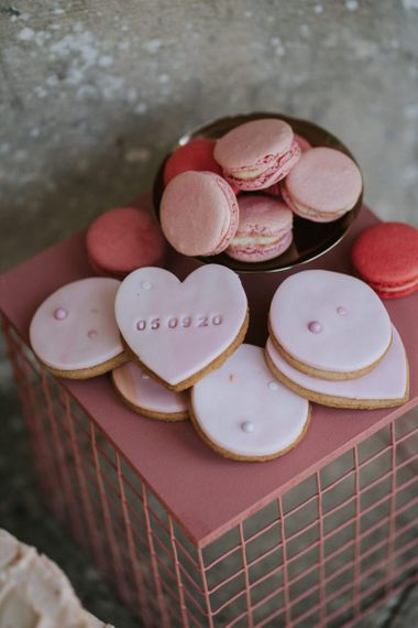 Heart shaped biscuit favours for LGBTQ+ wedding inspiration