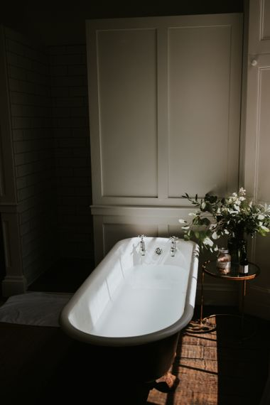 Roll top bath at Aswarby Rectory, Lincolnshire