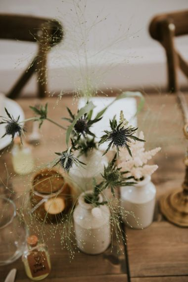 Thistles in inkwells