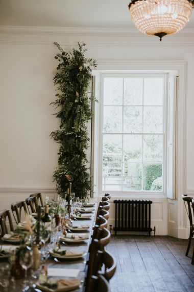 Foliage window arrangement at Aswarby Rectory