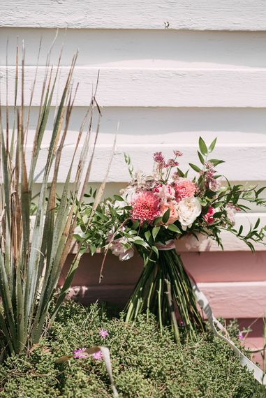 Blush Pink Wedding Bouquet | Luxe Blush Pink Glasshouse Wedding at Cortal Gran, Spain Planned by La Puta Suegra  | Sara Lobla Photography
