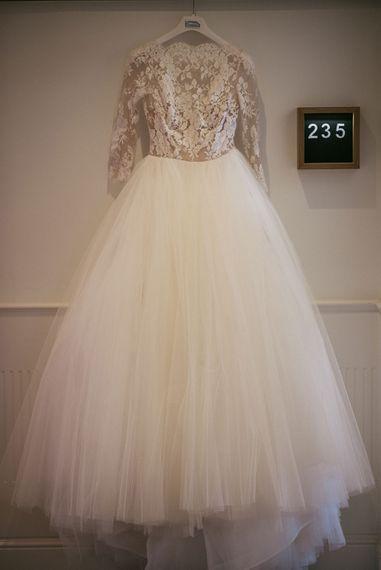 Rosa Clara Tulle Skirt & Lace Bodice Princess Wedding Dress | Luxe Blush Pink Glasshouse Wedding at Cortal Gran, Spain Planned by La Puta Suegra  | Sara Lobla Photography