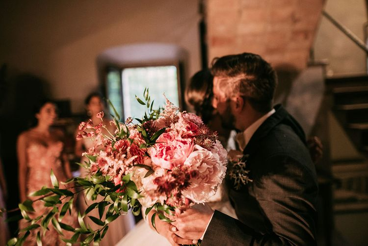 Blush Pink Bridal Bouquet | Luxe Blush Pink Glasshouse Wedding at Cortal Gran, Spain Planned by La Puta Suegra  | Sara Lobla Photography