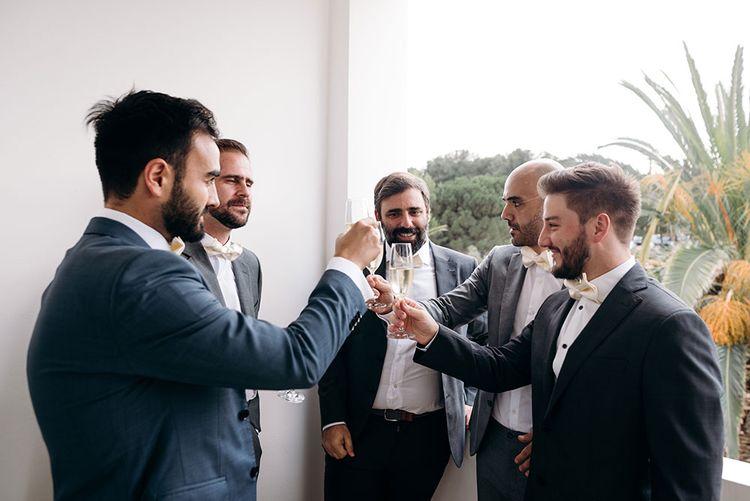 Groomsmen Preparations | Luxe Blush Pink Glasshouse Wedding at Cortal Gran, Spain Planned by La Puta Suegra  | Sara Lobla Photography