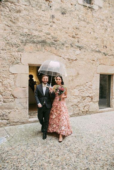 Wedding Party Entrance | Luxe Blush Pink Glasshouse Wedding at Cortal Gran, Spain Planned by La Puta Suegra  | Sara Lobla Photography