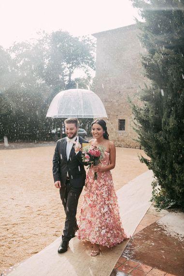 Groomsman & Bridesmaids in Blush Pink Dress |  Luxe Blush Pink Glasshouse Wedding at Cortal Gran, Spain Planned by La Puta Suegra  | Sara Lobla Photography