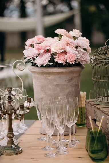 Pink Wedding Flowers | Wedding Decor | Luxe Blush Pink Glasshouse Wedding at Cortal Gran, Spain Planned by La Puta Suegra  | Sara Lobla Photography
