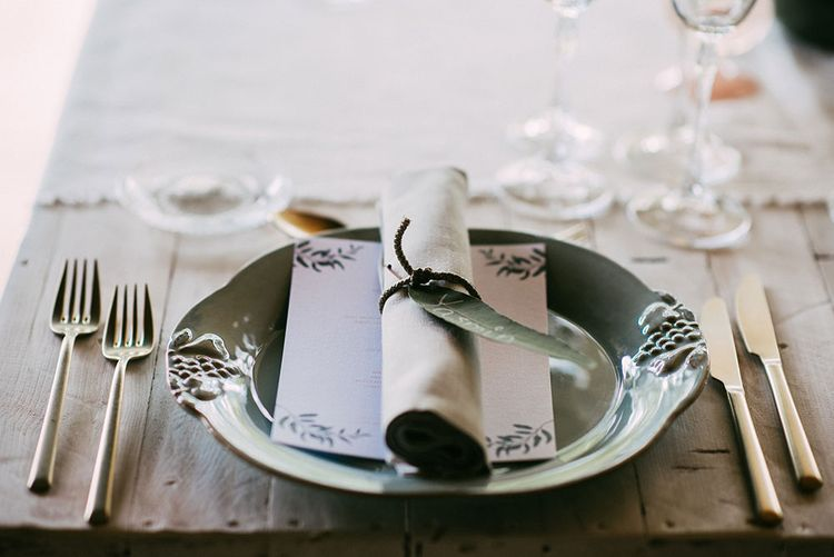 Elegant Place Setting | Luxe Blush Pink Glasshouse Wedding at Cortal Gran, Spain Planned by La Puta Suegra  | Sara Lobla Photography