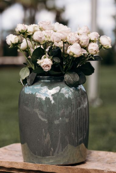 Roses in a Vases | Luxe Blush Pink Glasshouse Wedding at Cortal Gran, Spain Planned by La Puta Suegra  | Sara Lobla Photography